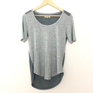 Madewell XS Short Sleeve High Low Shirt